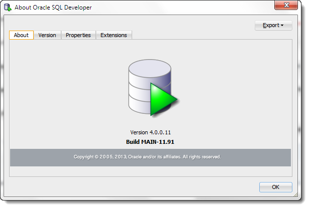 SQL Developer version 4.0 - lots of yummy goodness inside :)