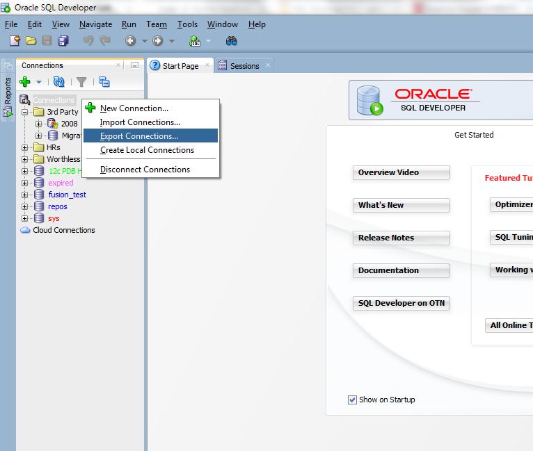 Migrating oracle sql developer connections with passwords - Oracle sql developer copy table ...