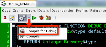 Don't forget to compile W/O debug before you put this into production - it adds overhead.