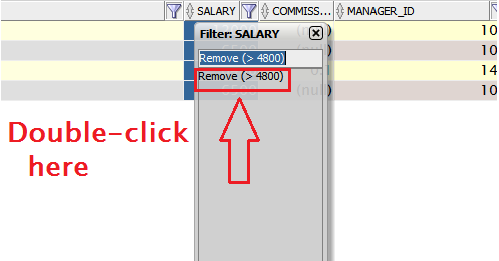 You can also right-click on any column and say 'remove all filters'