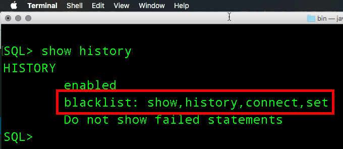 Use SET HISTORY BLACKLIST to do just that