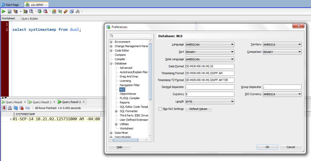 30 SQL Developer Tips in 30 Days, Day 2: NLS Parameters